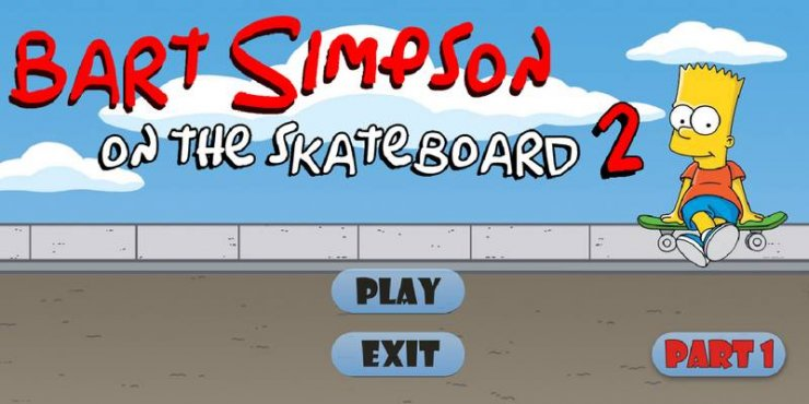 Bart Simpson on The Skateboard 2 v1.0