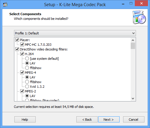 K-Lite Codec Pack 10.8.0 Standart + Mega + Full / Tweak Tool v5.9